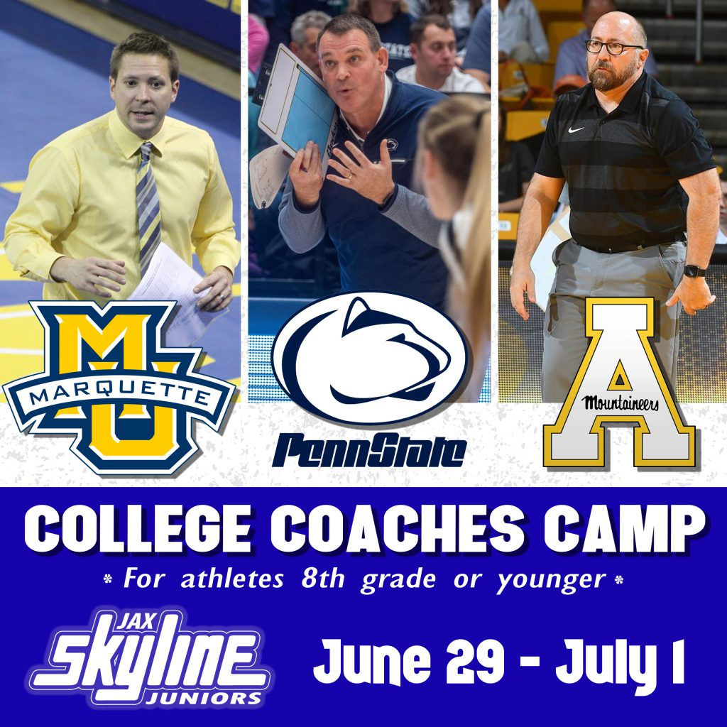 Youth College Coaches Camp Jacksonville Skyline Volleyball